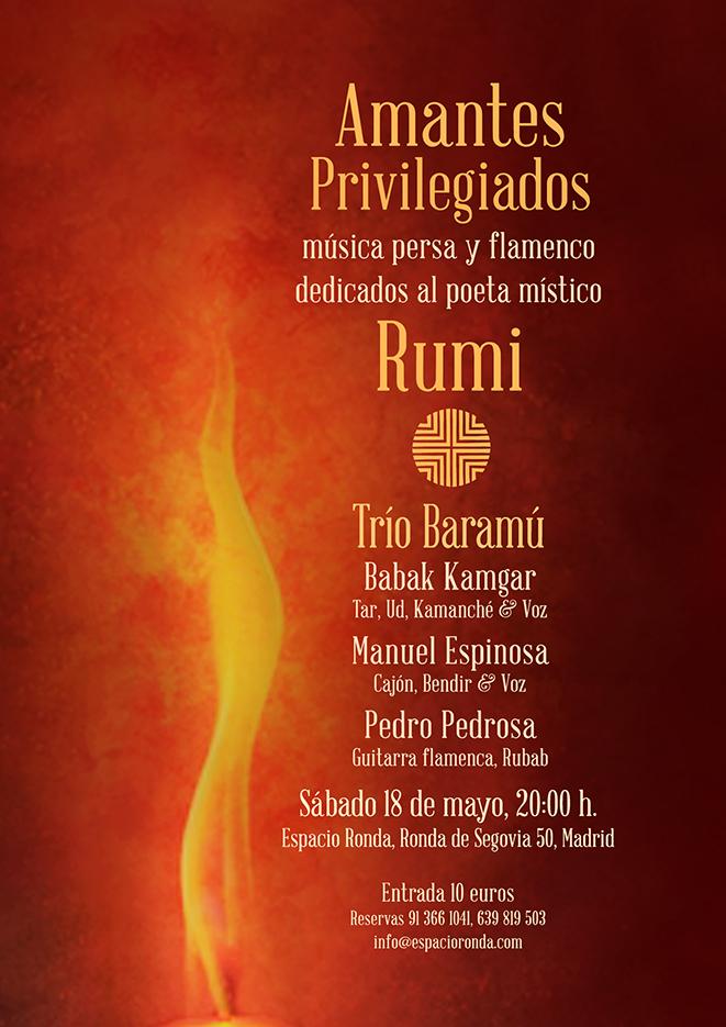 """""""Amantes Privilegiados"""" Música persa y flamenco dedicados al poeta místico RUMI"""