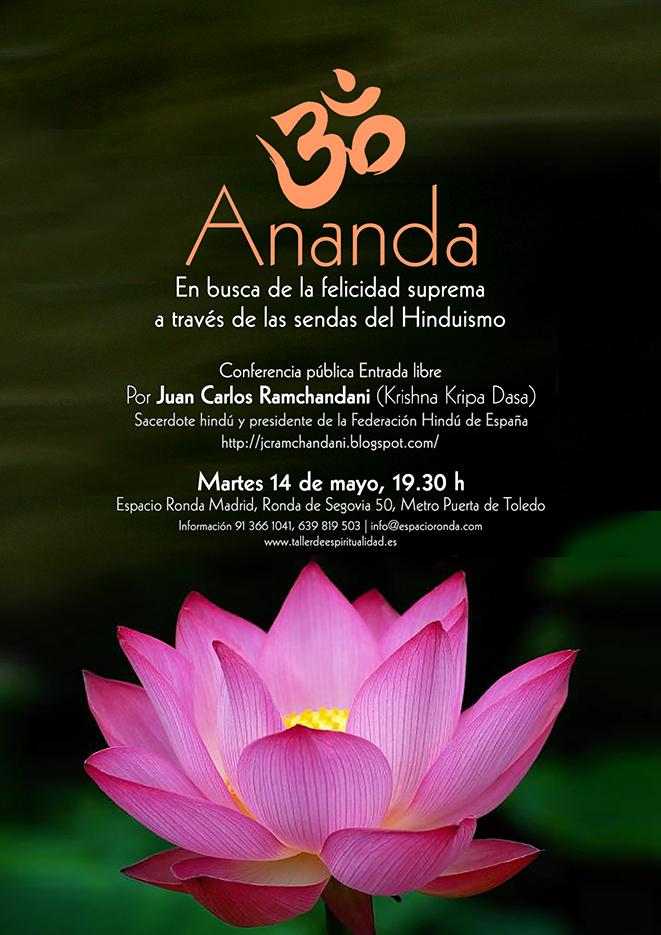 """Conferencia Pública """"Ananda: En busca de la felicidad suprema a través de las sendas del Hinduismo"""""""