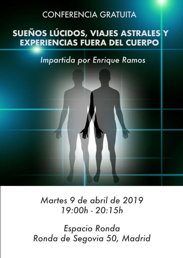 """Conferencia gratuita """"Sueños lúcidos, viajes astrales y experiencias fuera del cuerpo"""""""