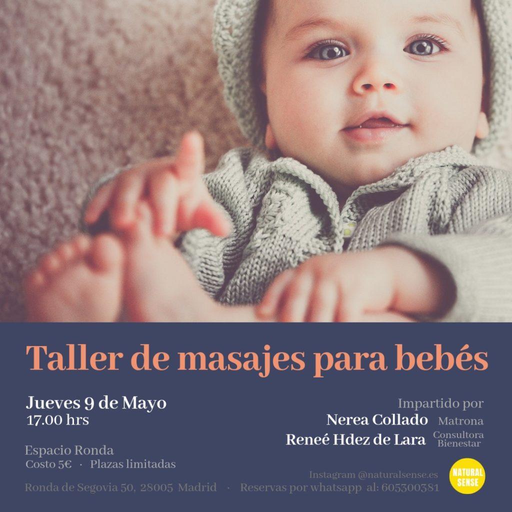 Taller de masajes para bebés