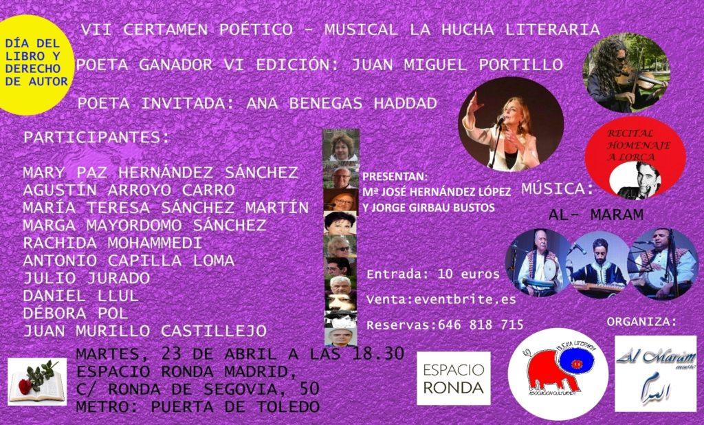 Certamen Poético - Musical La Hucha Literaria
