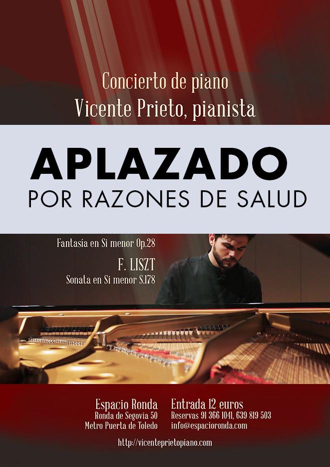 Concierto de piano con Vicente Prieto [APLAZADO por razones de salud]