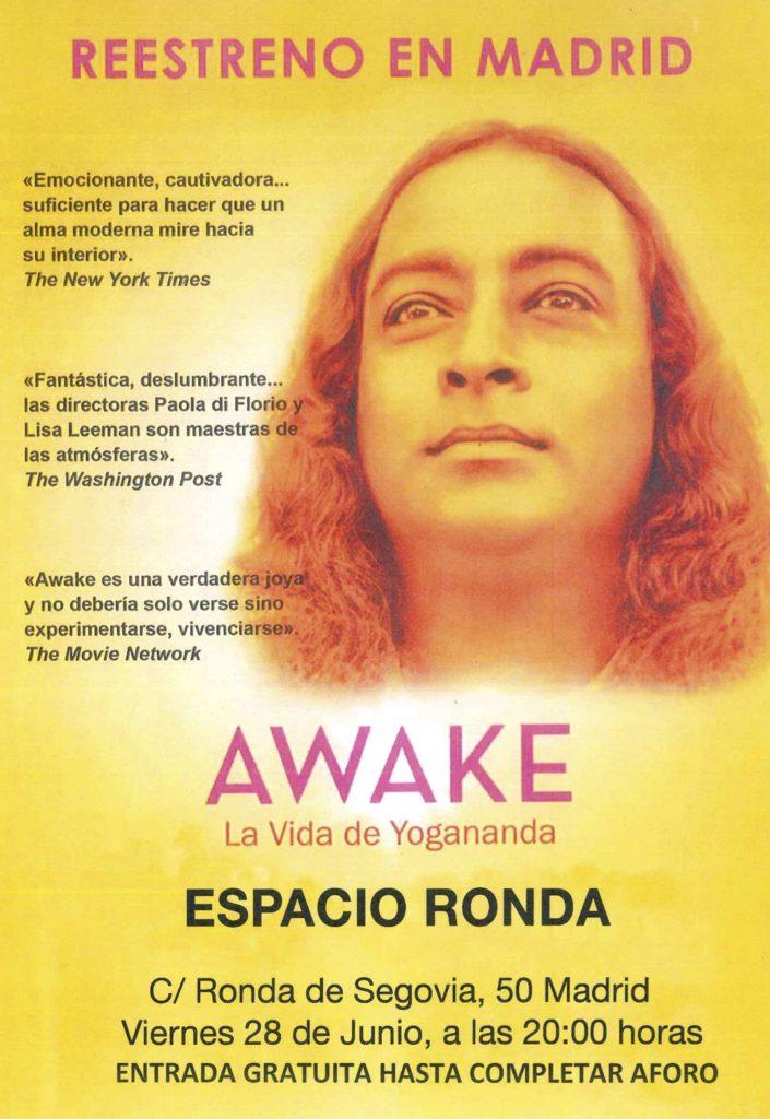 """Reestreno en Madrid """"AWAKE"""" La Vida de Yogananda"""
