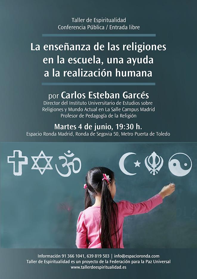"""Conferencia Pública """"La enseñanza de las religiones en la escuela, una ayuda a la realización humana"""""""