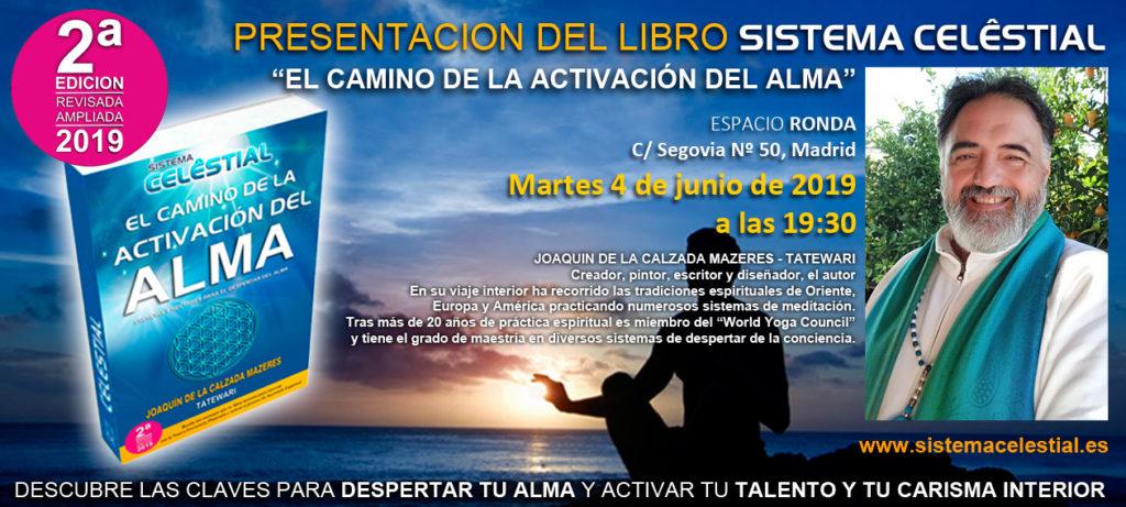 """Presentación del libro Sistema Celestial """"El Camino de la activación del alma"""""""