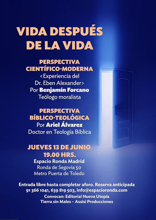 """Conferencias sobre """"VIDA DESPUES DE LA VIDA"""" con Benjamín Forcano"""
