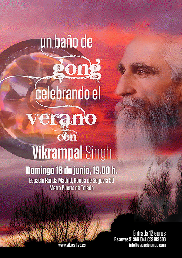 """Baño de Gong con Vikrampal Singh """"Celebrando el Verano"""""""