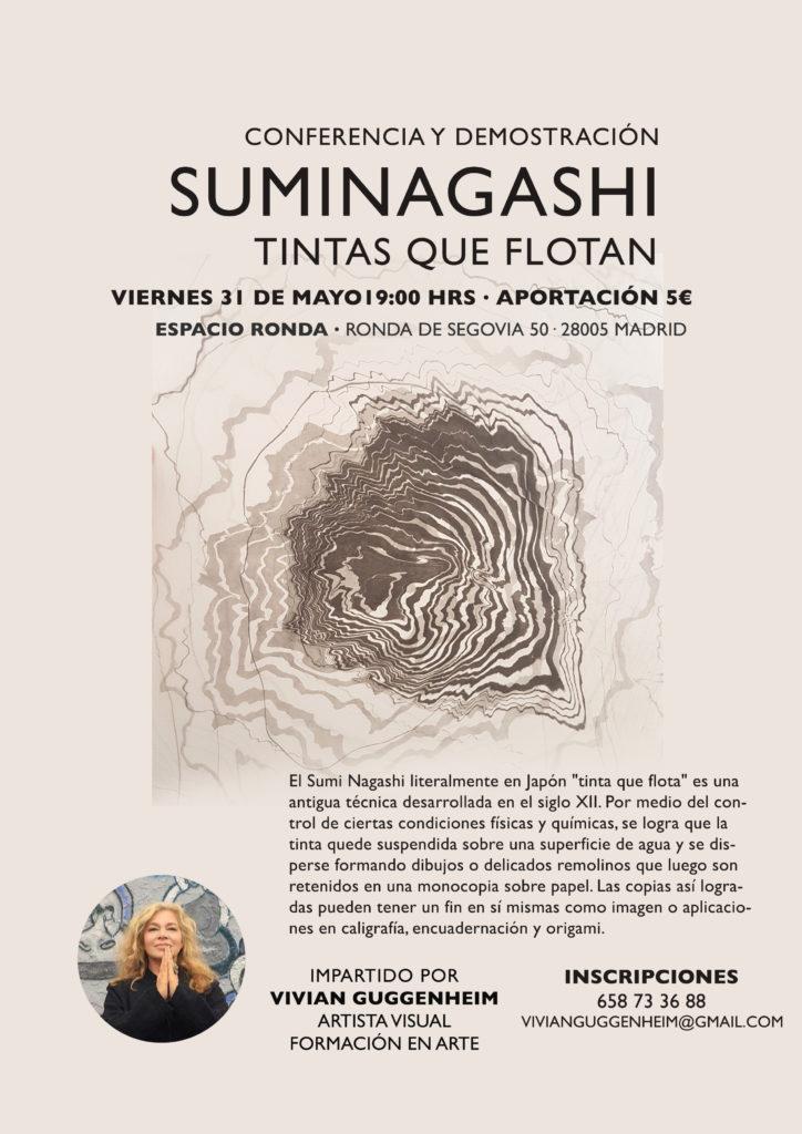 Conferencia-demostración de Suminagashi - Tintas que flotan