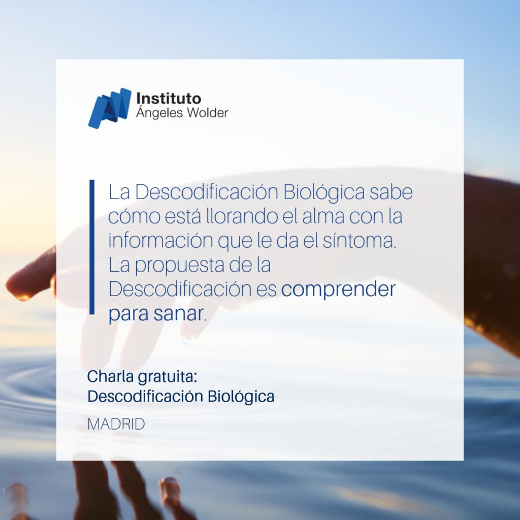 """Charla gratuita """"Descodificación Biológica"""" con Marta Menéndez"""