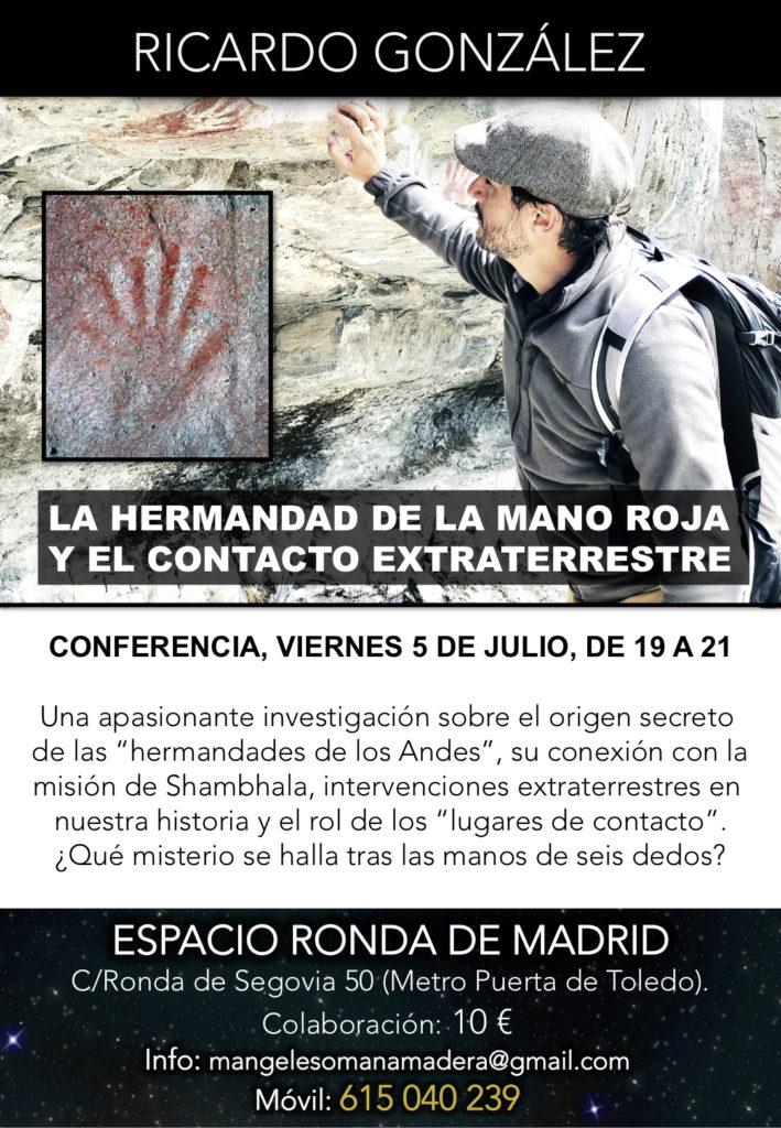 """Conferencia""""La Hermandad de la Mano Roja y el contacto extraterrestre"""""""