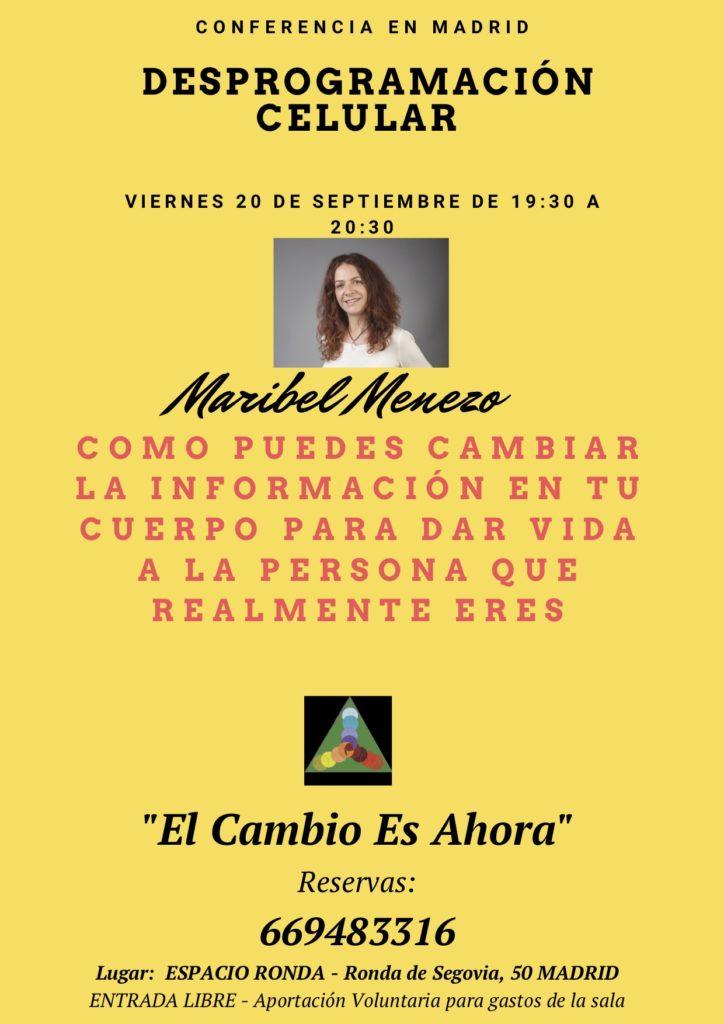"Conferencia ""Desprogramación Celular"" por Maribel Menezo"