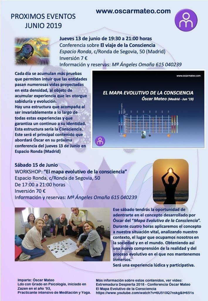 """Conferencia """"El Viaje de la Consciencia"""" con Oscar Mateo"""