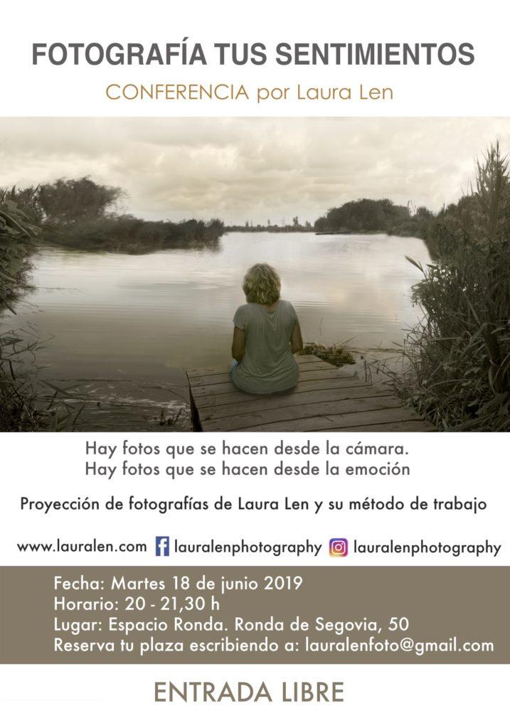 """Conferencia por Laura Len """"Fotografía tus sentimientos"""""""