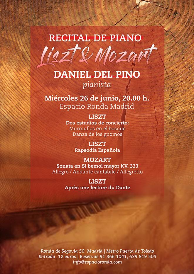 """Recital de piano con Daniel del Pino """"Listz & Mozart"""""""