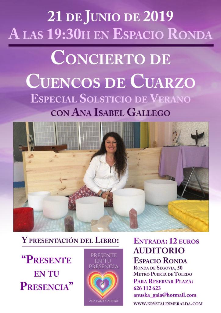 Concierto de Cuencos de Cuarzo con Ana Isabel Gallego