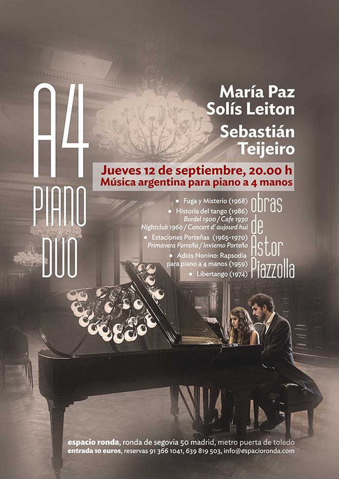 A4 PIANO DÚO - Música Argentina para piano a 4 mano