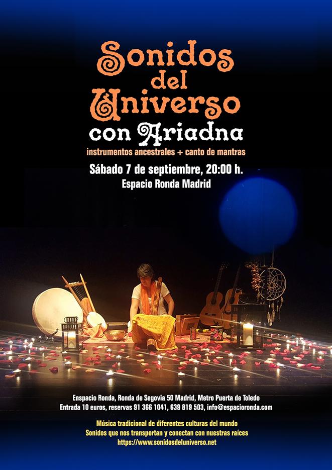 Sonidos del Universo · Canto de mantras e instrumentos ancestrales