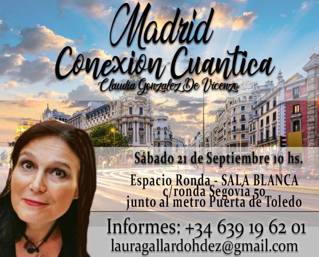 """Taller """"Conexión Cuántica Grupal"""" con Claudia Gonzalez de Vicenzo"""