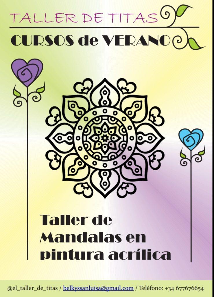 Taller de Mandalas en pintura acrílica con Belkys San Luis