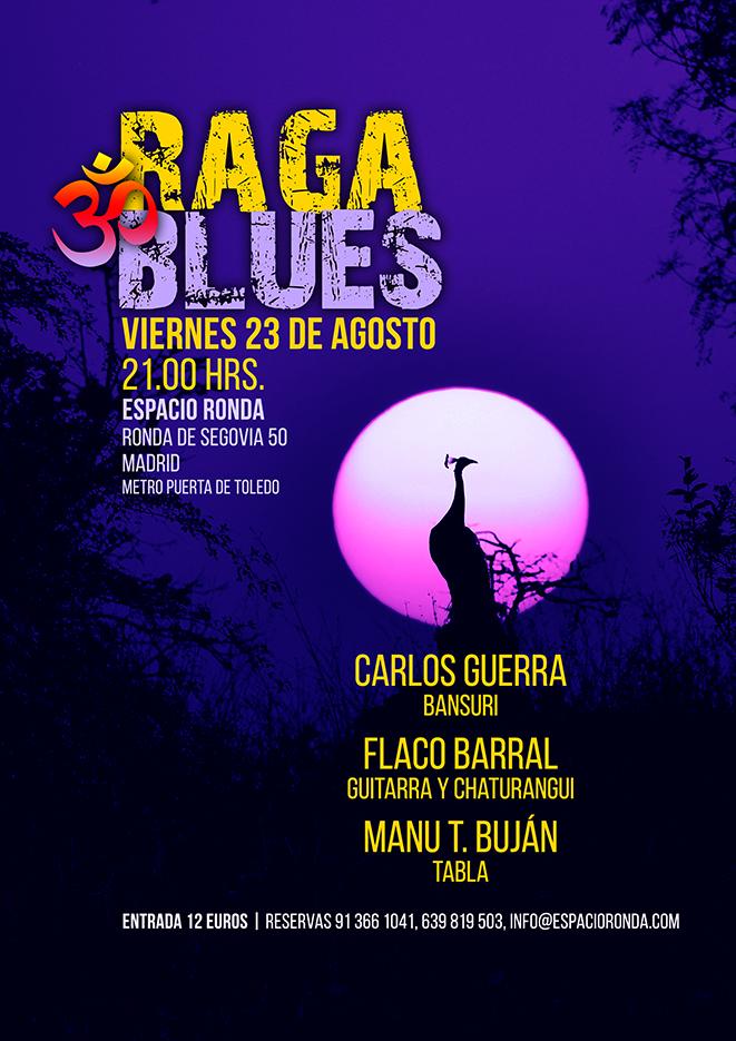 RAGA & BLUES con Carlos Guerra, Flaco Barral y Manu T. Buján