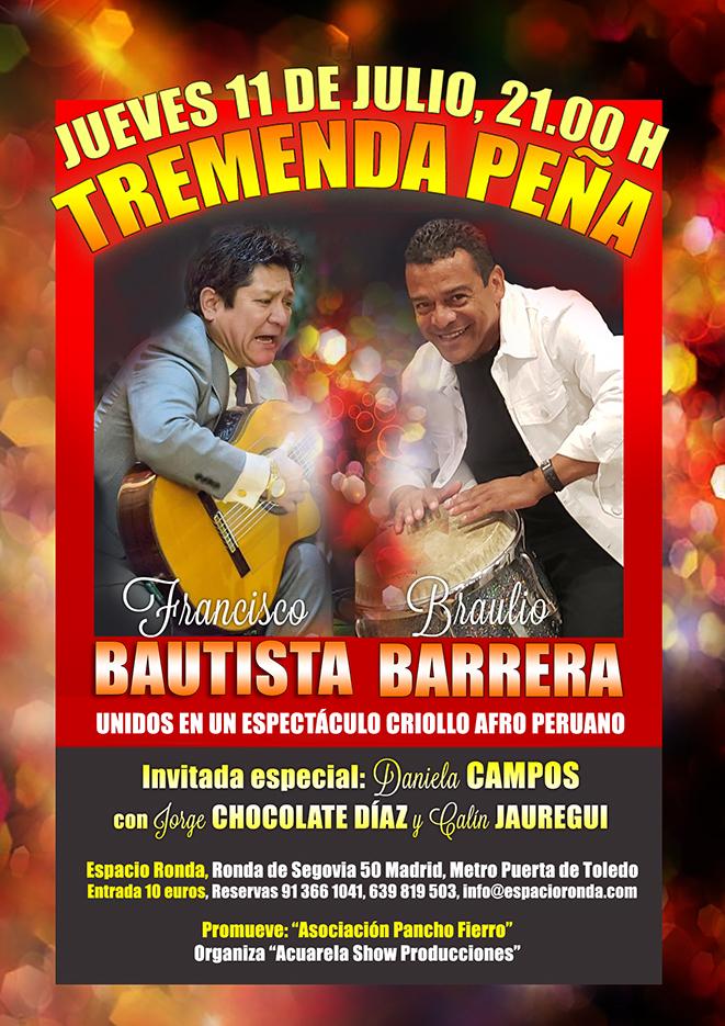 Espectáculo Criollo Afro Peruano · ¡Tremenda Peña!