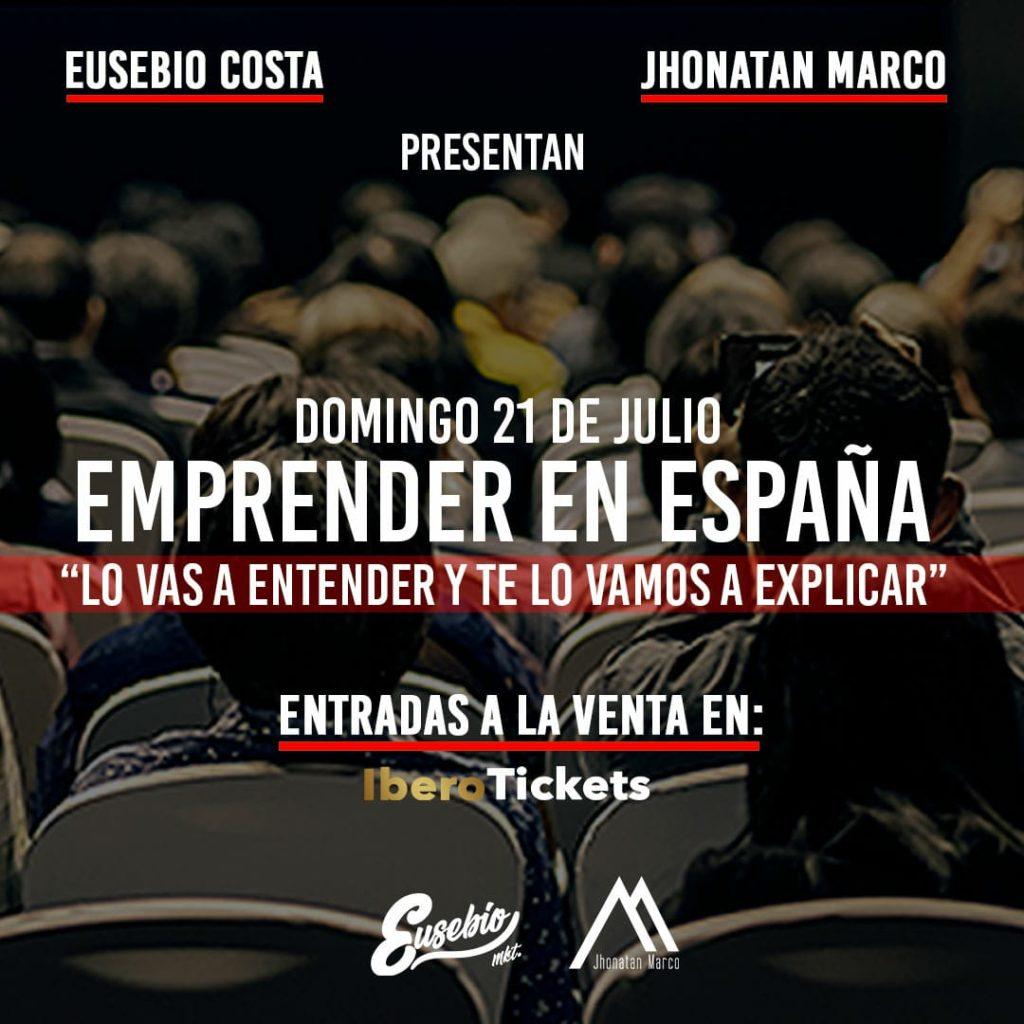 """Taller """"Emprender en España"""" con Eusebio Costa y Jhonatan Marco"""