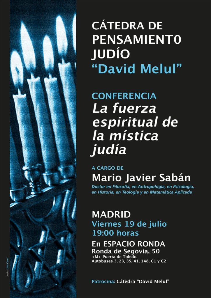 """Conferencia """"La fuerza espiritual de la mística judía"""" a cargo de Mario Javier Saban"""