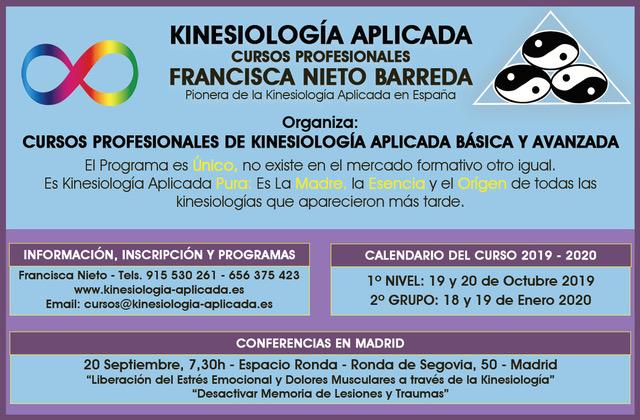 Kinesiología Aplicada - Cursos Profesionales impartido por Francisca Nieto