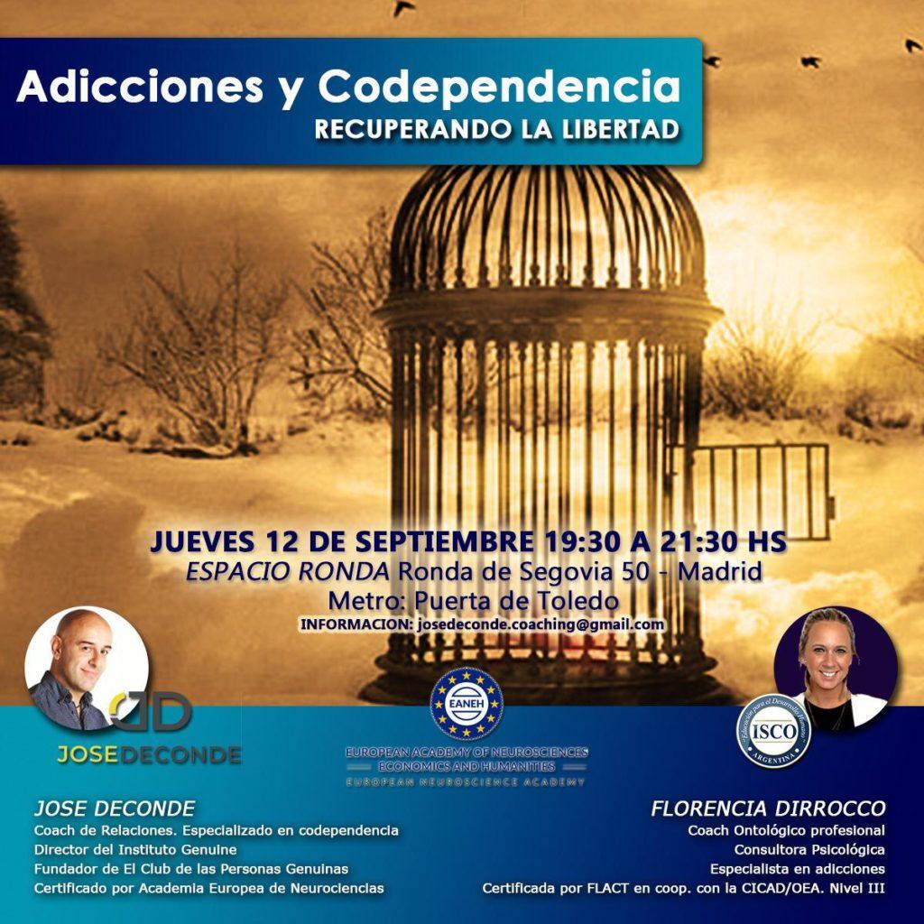 """Conferencia-Taller """"Adicciones y codependencia. Recuperando tu libertad"""""""