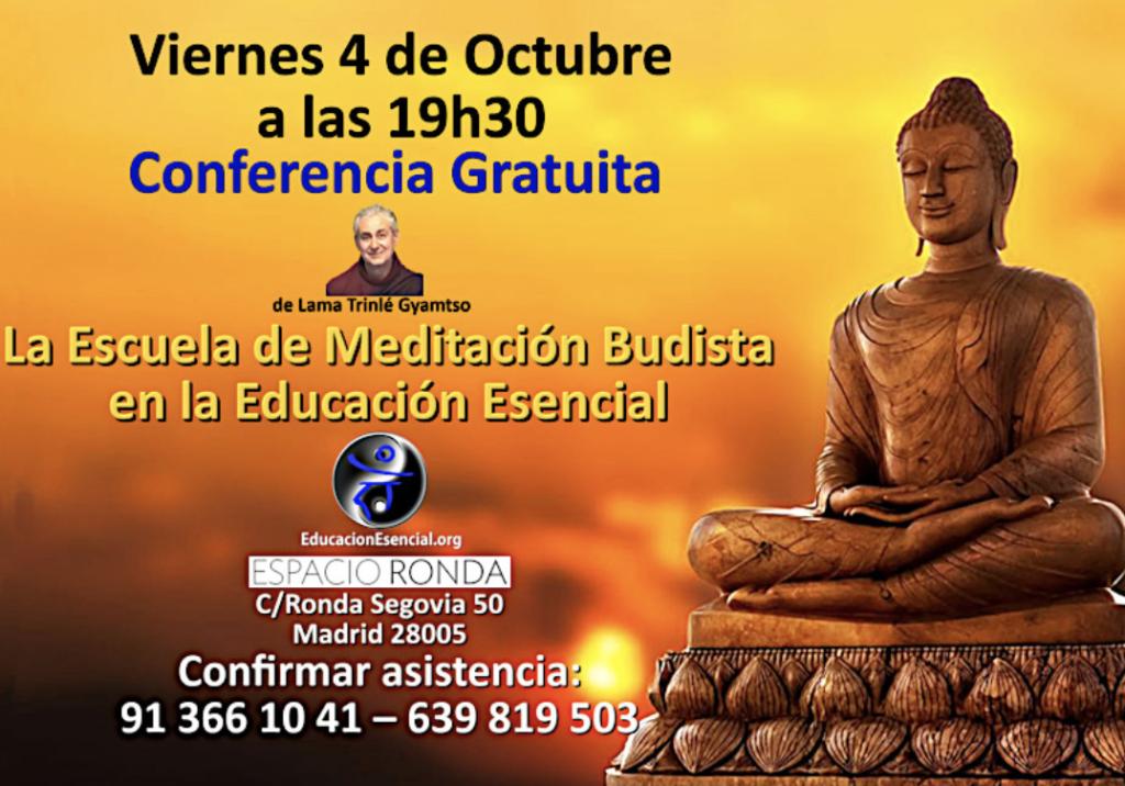 """Conferencia """"La Escuela de Meditación Budista en la Educación Esencial"""""""