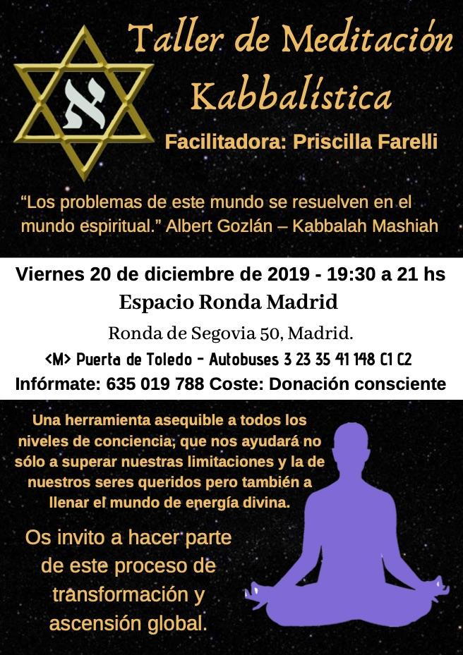 Taller de Meditaciones Kabbalísticas con Priscilla Farelli