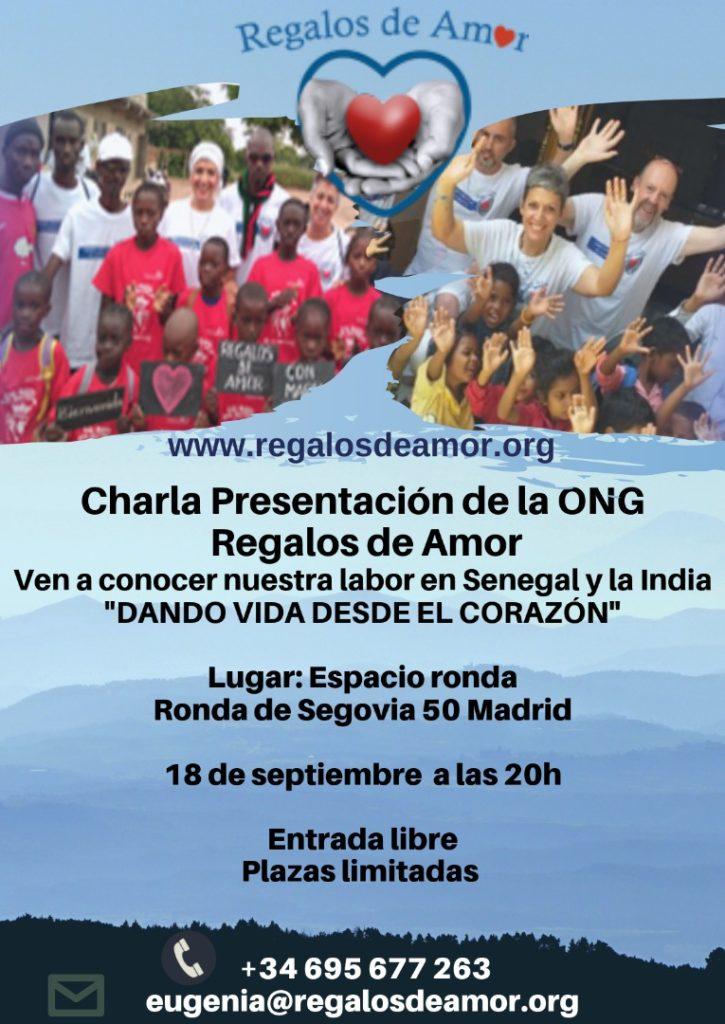 Charla presentación de la ONG · Regalo de Amor