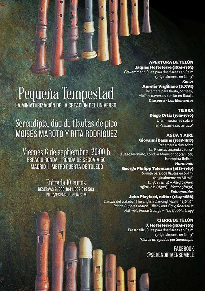 Serendipia · Dúo de flautas de pico integrado por Moisés Maroto y Rita Rodríguez