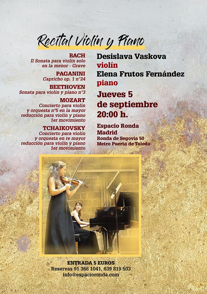 Recital de Violín y Piano - Desislava Vaskova y Elena Frutos Fernández