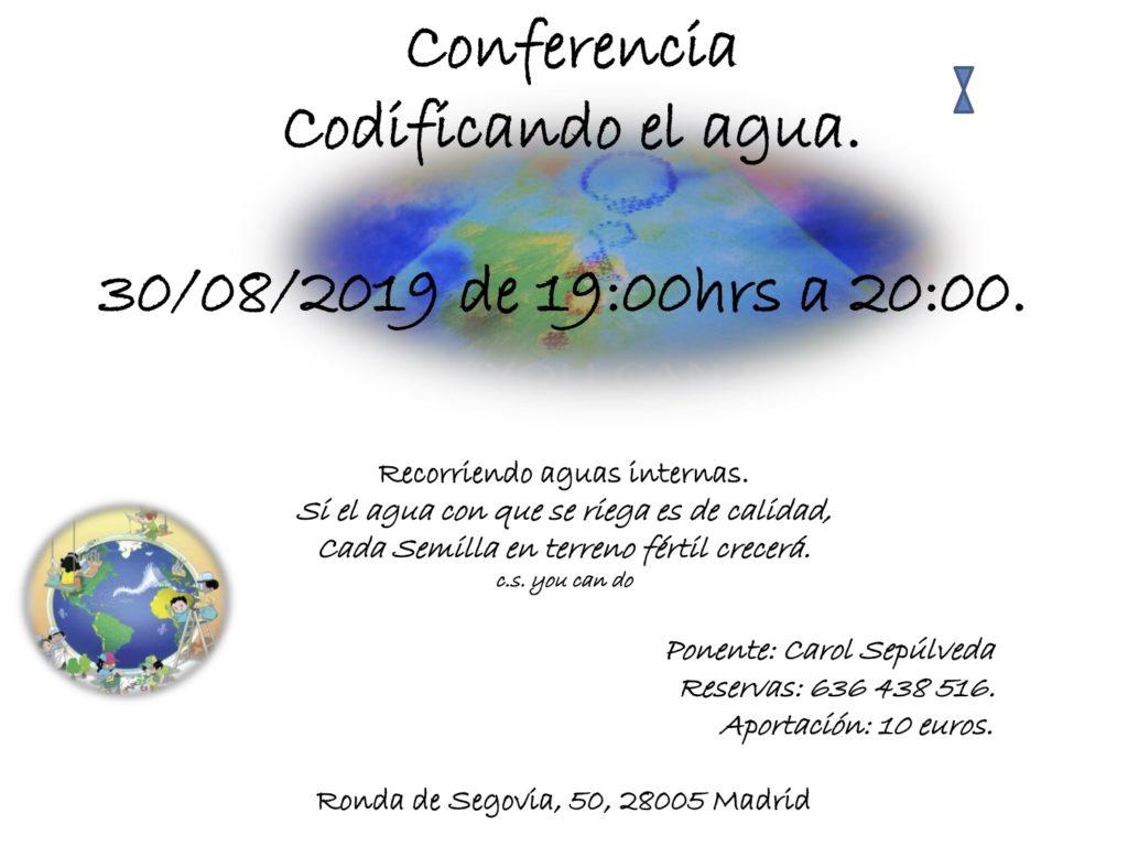 """Conferencia """"Codificando el agua"""" con Carol Sepúlveda"""