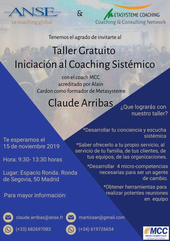 """Taller Gratuito """"Iniciación al Coaching Sistémico"""""""