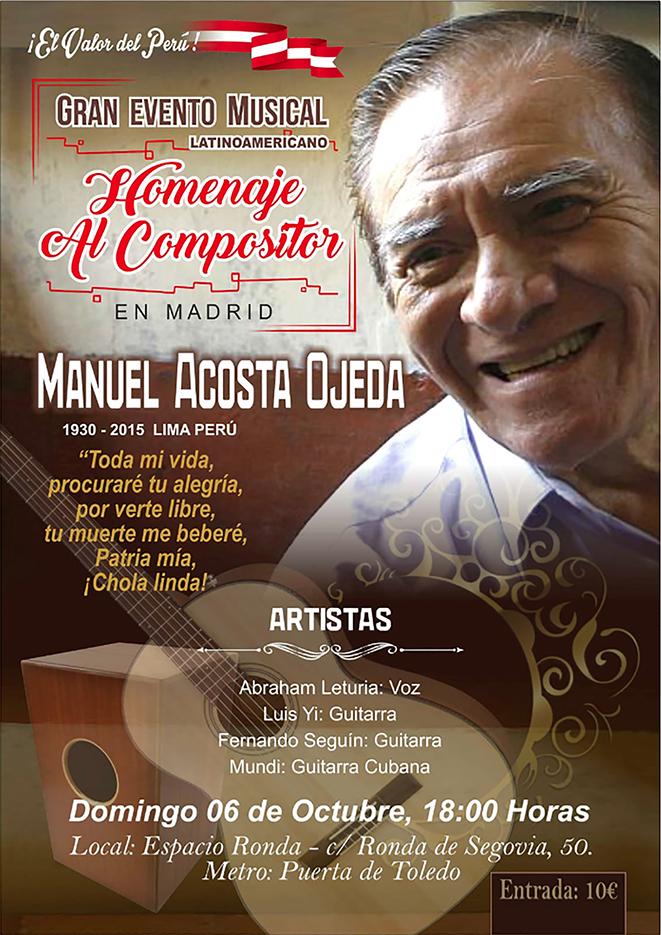 Homenaje al compositor Manuel Acosta Ojeda