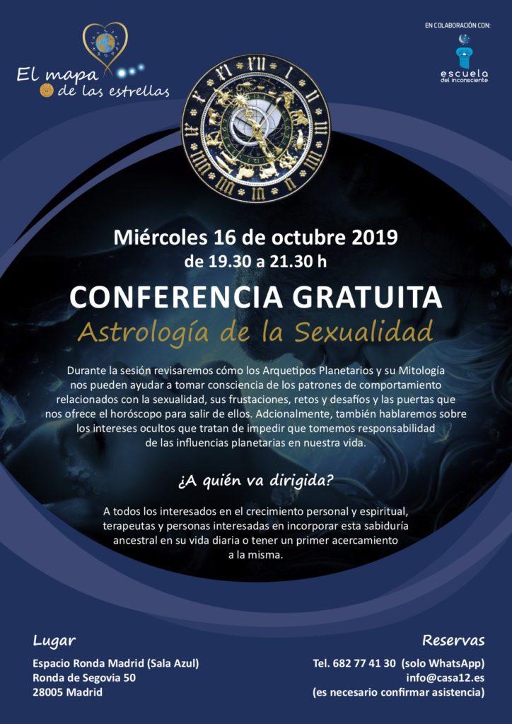 """Conferencia gratuita """"Astrología de la Sexualidad"""" con Andres Coronel"""