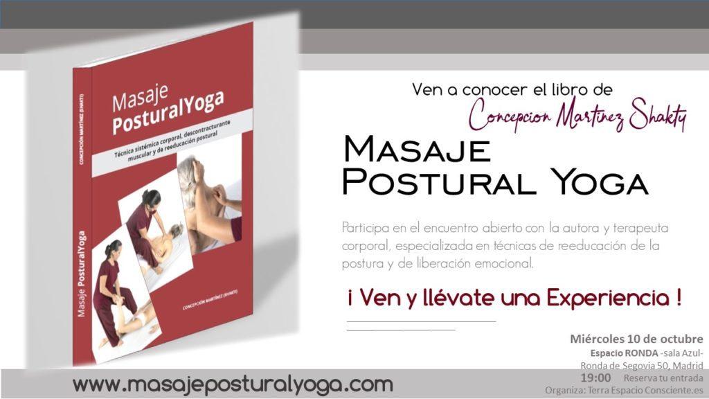 """Presentación del libro """"Masaje Postural Yoga"""" de Concepción Martinez Shakty"""