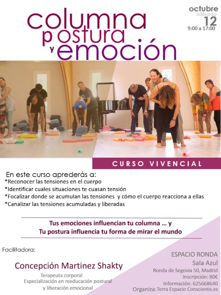 """Curso Vivencial """"Columna, postura y emoción"""""""