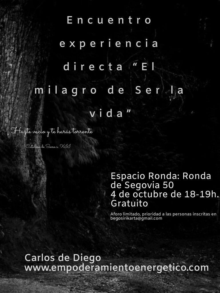 """""""Empoderamiento Energético"""" con Carlos Diego"""