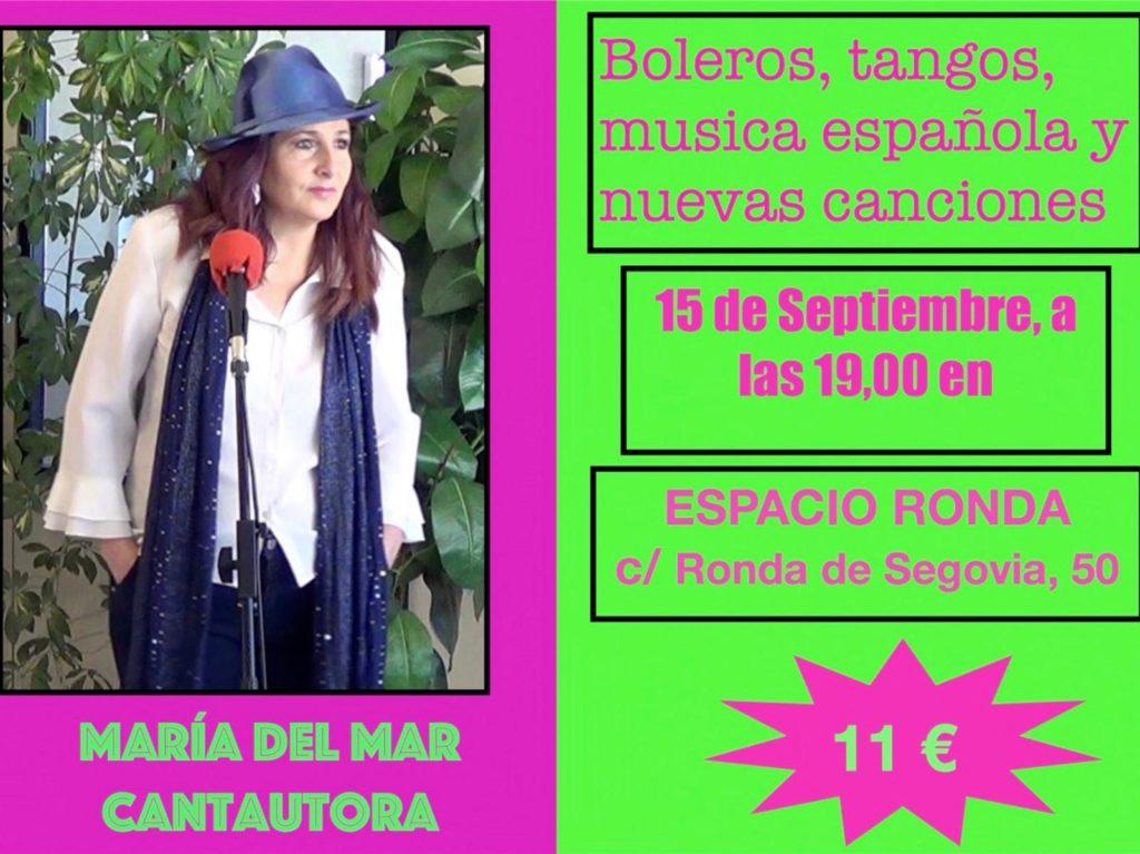 Boleros, tangos, música española y nuevas canciones