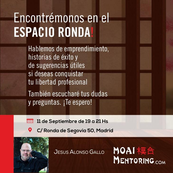 """""""Hablemos de emprendimiento, historias de éxito y sugerencias para conquistar tu libertad profesional""""  con Jesus Alonso Gallo"""