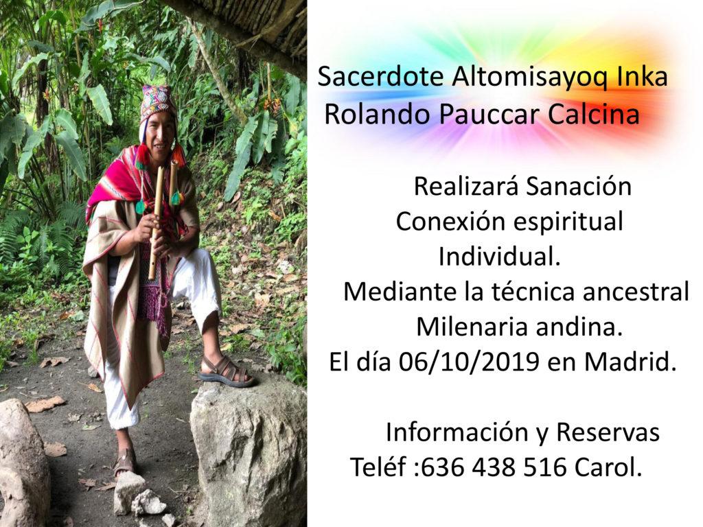 Sanación con el Sacerdote Altomisayoq Inka Rolando Pauccar Calcina