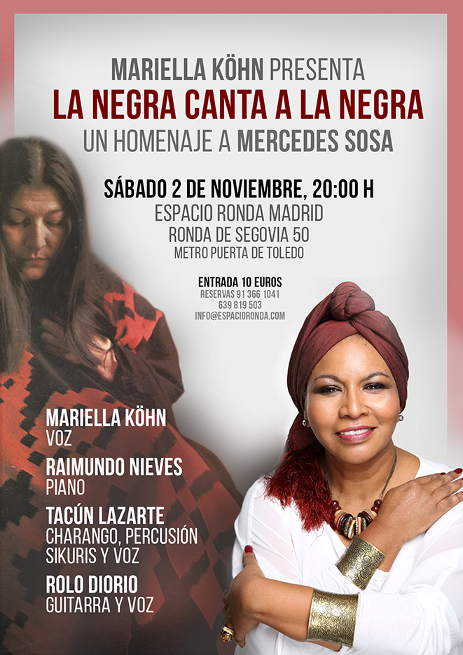 Mariella Köhn presenta La Negra canta a la Negra: Un homenaje a Mercedes Sosa