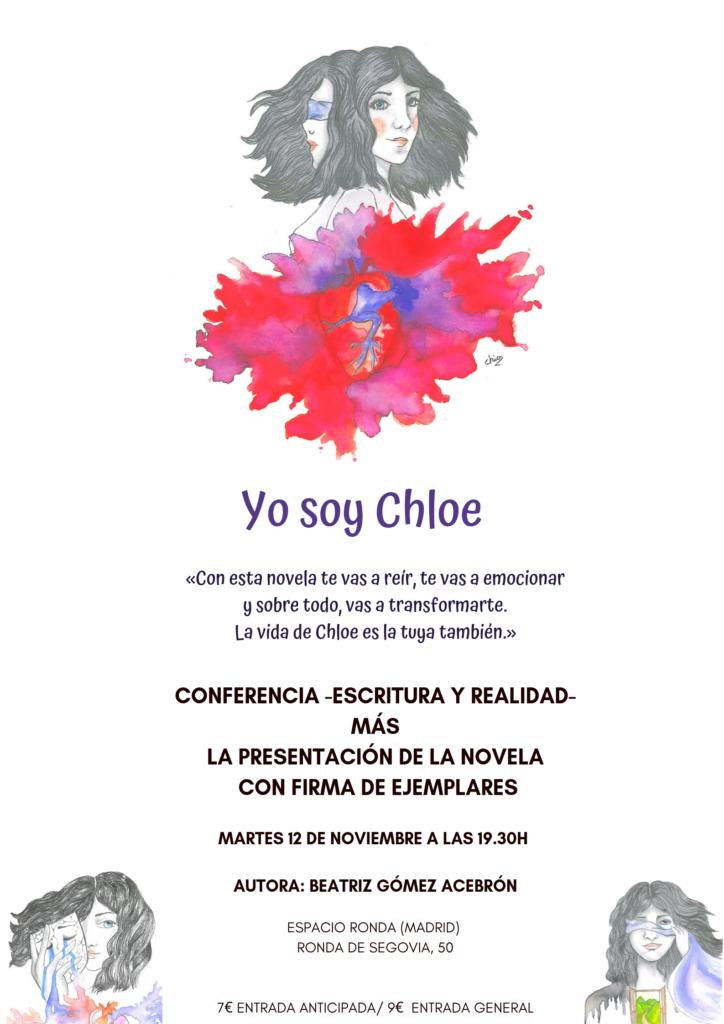 """Presentación de la novela """"Yo soy Chloe"""" de Beatriz Gómez Acebrón"""