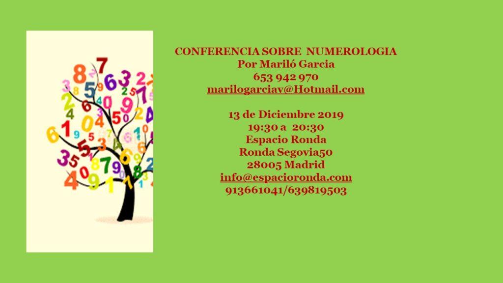 Conferencia sobre Numerología por Mariló García