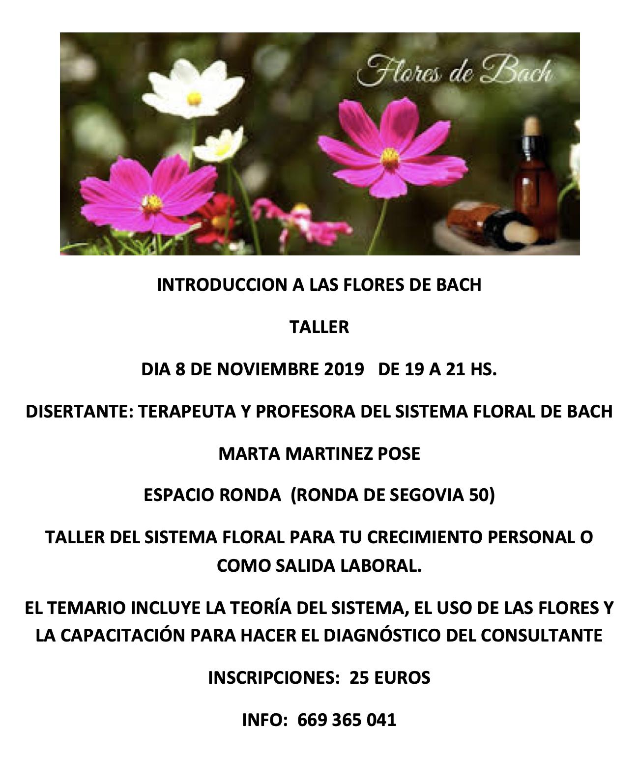 Taller Introducción a las Flores de Bach con Marta Martinez Pose
