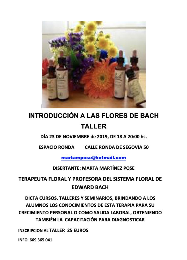 """Taller """"Introducción a las Flores de Bach"""""""