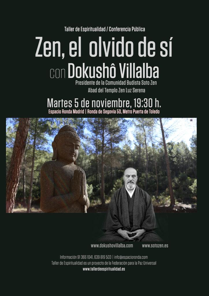 """Conferencia Pública """" Zen, el olvido de sí """", por Dokushô Villalba"""